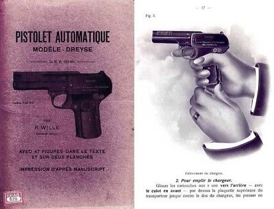 Dreyse Pistolet Model 1907 Gun Manual