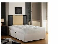 NEW *** SALE! SALE! Small Double or Standard Double Divan Bed Base In White ,Cream or Black