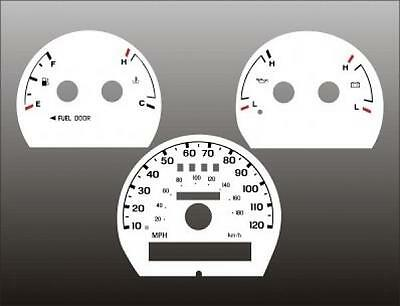 1998-2003 Ford Ranger Non Tach Dash Cluster White Face Gauges 98-03
