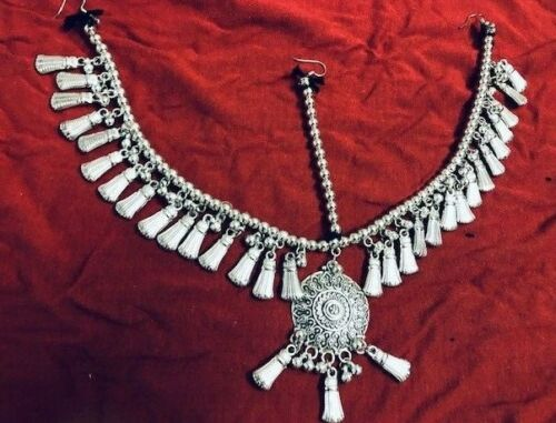Afghan Ethnic Tribal Jewellery Matha Patti Kuchi Headdress Belly dance costume