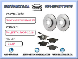 Front and Rear Brake set VW Jetta 2006-2019