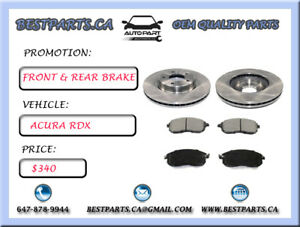 Front and Rear brake set Acura RDX 2012