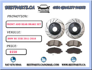Front and Rear brake BMW X6 35xi 2011-2018