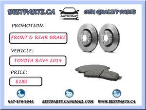 Front and Rear brake set Toyota RAV4 2014