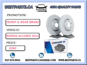 Front and Rear brake set Honda Accord 2012