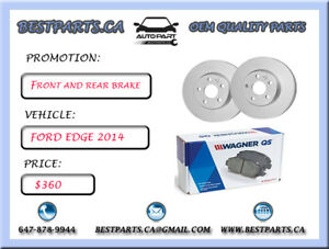 Front and Rear brake set Ford Edge 2014