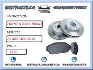 Front and Rear brake set Acura MDX 2012