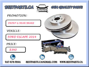 Front and Rear brake set Ford Escape 2014