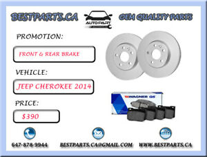 Front and Rear brake set Jeep Cherokee 2014