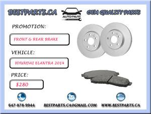 Front and Rear brake set Hyundai Elantra 2014