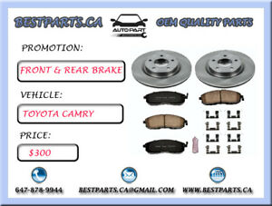 Front and Rear brake set Toyota Camry 2012
