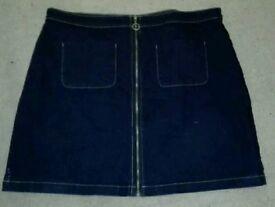 Women's denim skirt size 18