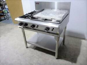 New Commercial Gas 600mm Hotplate Griddle, 2 Burner Cooktop Cafe North Parramatta Parramatta Area Preview