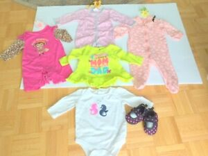 Baby Girl (0-3 m) Dress, Jumpers NEW (Great Gift) Free Booties