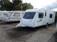 2011 Swift Charisma 550 four berth caravan