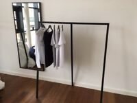 Modern clothes rack - steel frame, powder coated. Available in black or white