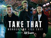 2x excellent tickets to Take That - Manchester Arena 25/5/17 - Block 104, Row V, Seats 19 & 20