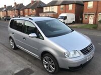 VW TOURAN 1.9 TDI SE IN METALLIC PAINT AND 125K WITH FULL SERVICE HISTORY