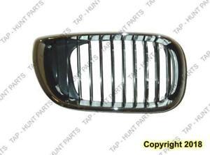 Grille Passenger Side Chrome/Black Sedan/Wagon BMW 3-Series (E46) 2002-2005