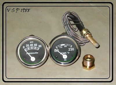 Ford Tractor 2n 8n 9n Naa 601 70 801 901 2000 4000 Oil Temp Gauge Set