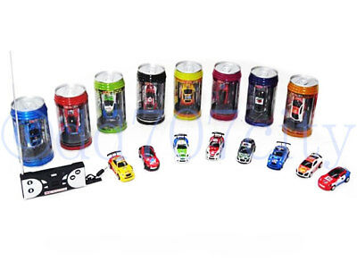 (Multicolor Coke Can Mini Speed RC Radio Remote Control Micro Racing Car Toy Gift)