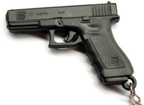 "Black Glock Protection Firearms Keychain Purse Zipper Car Auto Keys 1 1/4"" x 2"""