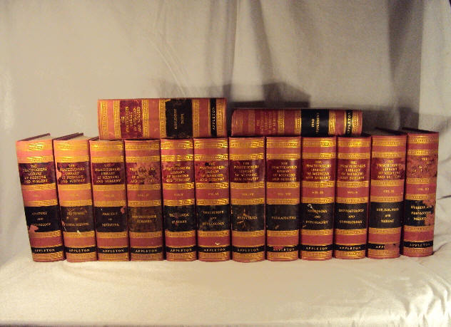 1932 PRACTITIONERS LIBRARY OF MEDICINE AND SURGERY VOL I-XII & 2 SUPPLEMENTS