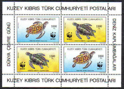 Turkish North Cyprus Stamps SG 335 1992 Turtles, MINT Never Hinged
