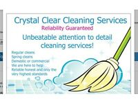 Crystal Clear Cleaning services (covering all surrounding areas)