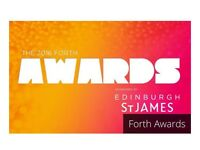 FORTH AWARDS 2016 3 tickets