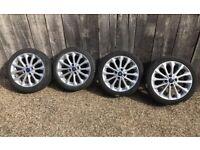 """16"""" 4x108 Ford Fiesta Mk 6 7 8 Alloy Wheels With Tyres Alloys Titanium Zetec S"""