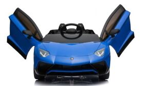 Licensed 2018 LAMBORGHINI AVENTADOR SV 12v ride on car with remote control music and lights
