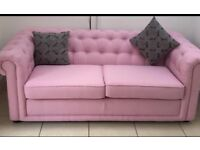 DFS pink sofa for sale