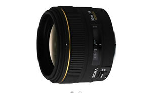Sigma 30mm f/1.4 DC HSM lens with Canon E mount