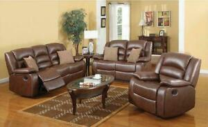100% cowhide genuine leather Recliner Sofa Set