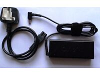 Used Sony Vaio AC Adapter, Charger 90w 19.5V, UK plug. Part: PA-1900-11SY