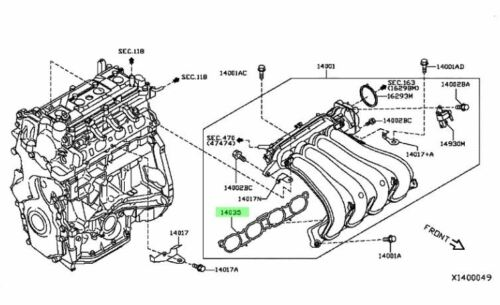 Nissan Oem 1218 Versaengine Intake Manifold Gasket 140351hk0a Ebayrhebay: Nissan Versa Engine Diagram At Gmaili.net