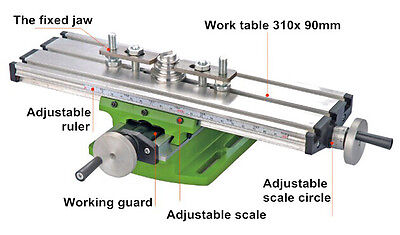 Diy Multi-function Milling Machine Mini Lathe With Cross Sliding Table 31090mm