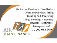 Bathroom/Kitchen fitter, Handyman Home improvements and maintenance.