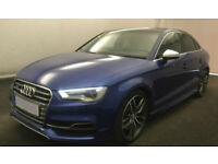 Blue AUDI S3 SALOON 2.0 T FSI Petrol QUATTRO FROM £114 PER WEEK!