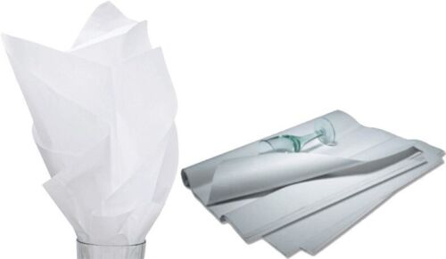 "480 Sheets Solid White Tissue Paper Ream 20"" x 30"" - 11-01-9"