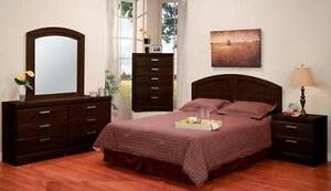 LORD SELKIRK FURNITURE - MALAGA 5 PC QUEEN BEDROOM SUTE IN CAPPUCCINO