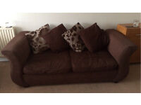DFS 3 seater sofa and large swivel chair