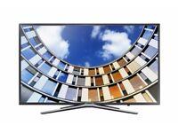 "Samsung UE43M5520 LED Full HD 1080p Smart TV, 43"" with TVPlus, Dark Grey"