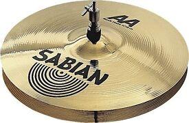 "sabian aa 14"" rock hi hat cymbals , brand new"