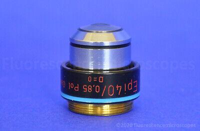 Carl Zeiss Epi 40x 0.85 160-. Oil Polarizing Microscope Objective