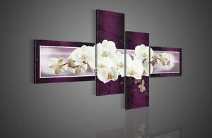 Abstract-Purple-Orchid-Hand-Painted-Oil-Painting-On-Canvas-Home-Decor-Wall-Art