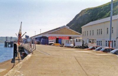 PHOTO  FISHGUARD HARBOUR PEMBROKE 1994 GWR TERMINUS OF LINES FROM CLARBESTON ROA
