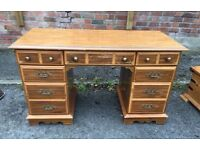 Edwardian style knee hole desk