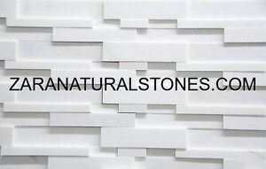 Extra White Elegant Trio 3D Thin Veneer Wall Cladding Ledgestone